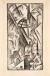 84 Carlo Carrà La Galleria di Milano 1912-1949, litografia su zinco, cm 36,4x19,2