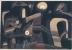Paul Klee, at night, 1921, matita, penna, acquarello su carta