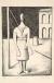 90 Carlo Carrà La figlia dell'Ovest o La fanciulla dell'Ovest 1919-1949, litografia su zinco, cm 35,9x25,8